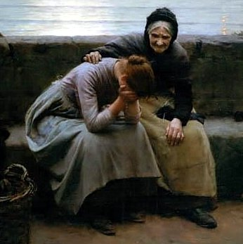 An 1894 painting by Walter Langley